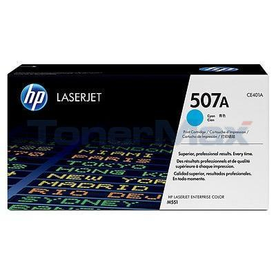 HP NO 507A LASERJET TONER CARTRIDGE CYAN